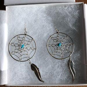 Jewelry - Sterling Silver dream catcher earrings!